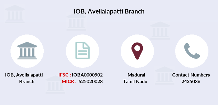 Indian-overseas-bank Avellalapatti branch