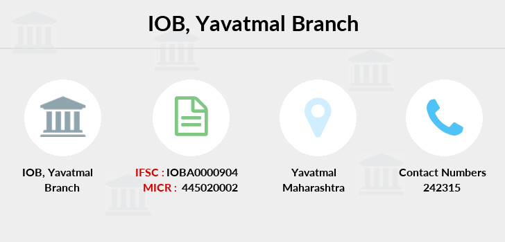 Indian-overseas-bank Yavatmal branch