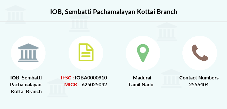 Indian-overseas-bank Sembatti-pachamalayan-kottai branch