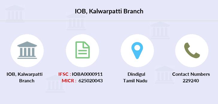 Indian-overseas-bank Kalwarpatti branch