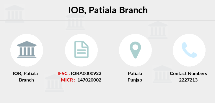 Indian-overseas-bank Patiala branch