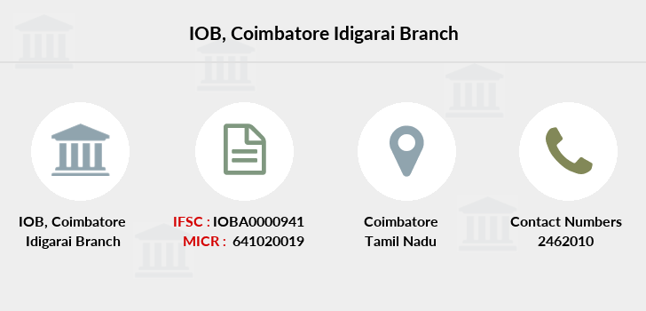 Indian-overseas-bank Coimbatore-idigarai branch