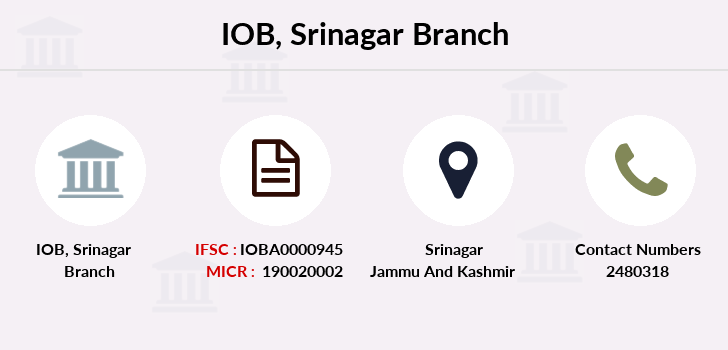 Indian-overseas-bank Srinagar branch