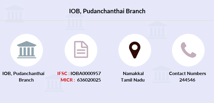 Indian-overseas-bank Pudanchanthai branch