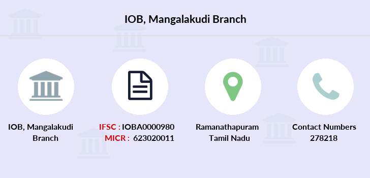 Indian-overseas-bank Mangalakudi branch