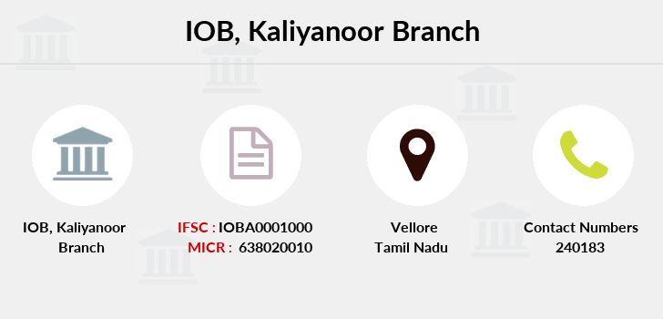 Indian-overseas-bank Kaliyanoor branch