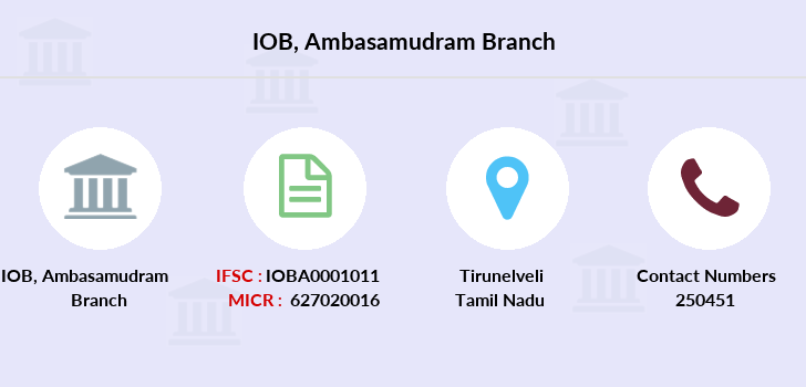 Indian-overseas-bank Ambasamudram branch