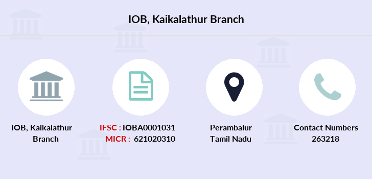 Indian-overseas-bank Kaikalathur branch