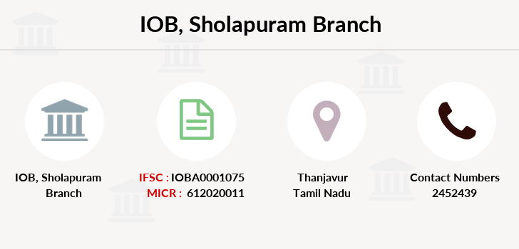 Indian-overseas-bank Sholapuram branch