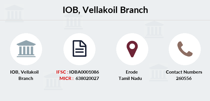 Indian-overseas-bank Vellakoil branch