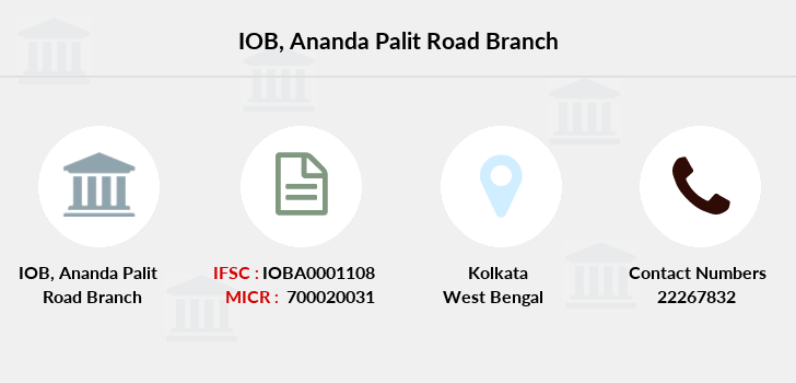 Indian-overseas-bank Ananda-palit-road branch