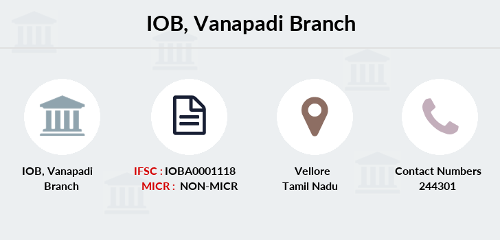 Indian-overseas-bank Vanapadi branch