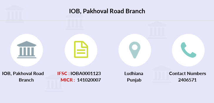 Indian-overseas-bank Pakhoval-road branch