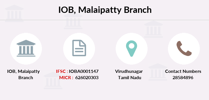 Indian-overseas-bank Malaipatty branch