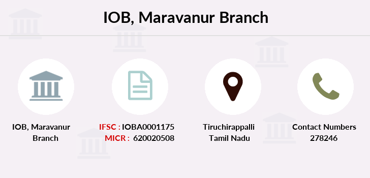 Indian-overseas-bank Maravanur branch