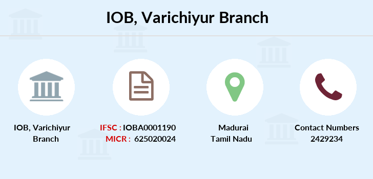 Indian-overseas-bank Varichiyur branch