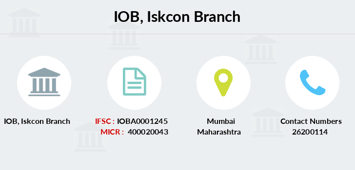 Indian-overseas-bank Iskcon branch