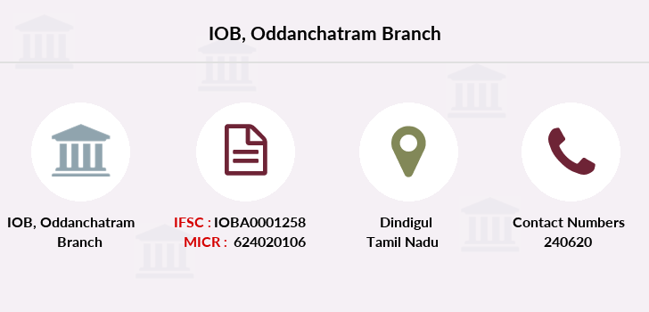 Indian-overseas-bank Oddanchatram branch