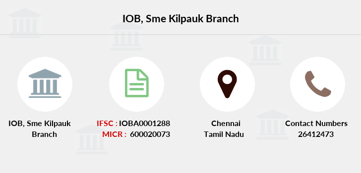 Indian-overseas-bank Sme-kilpauk branch