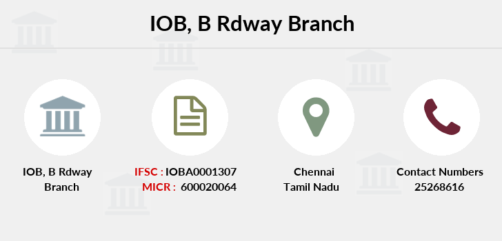 Indian-overseas-bank B-rdway branch