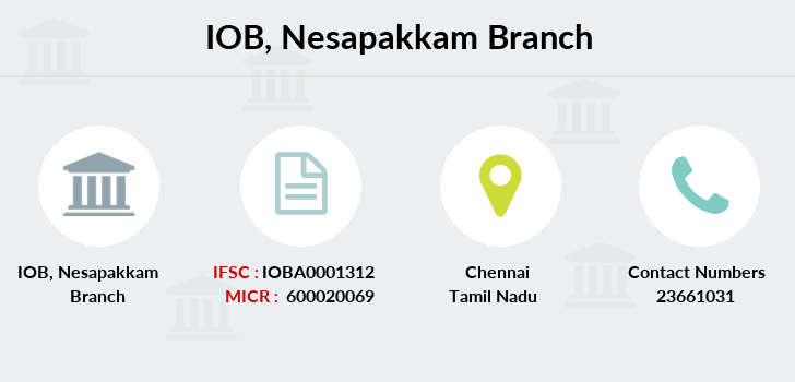 Indian-overseas-bank Nesapakkam branch
