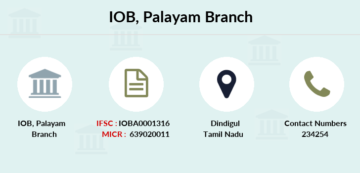Indian-overseas-bank Palayam branch