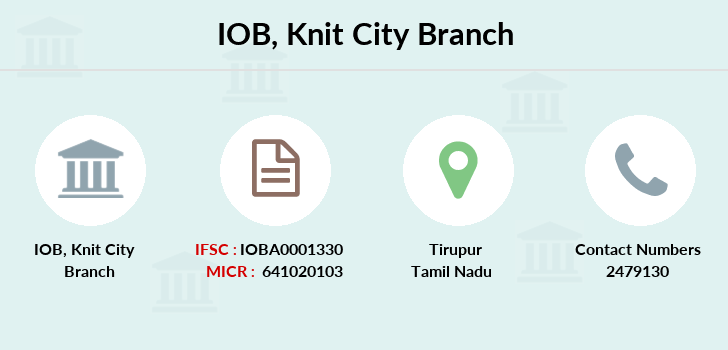 Indian-overseas-bank Knit-city branch