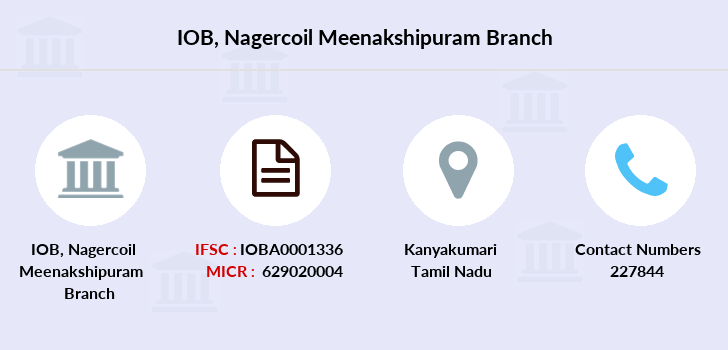 Indian-overseas-bank Nagercoil-meenakshipuram branch
