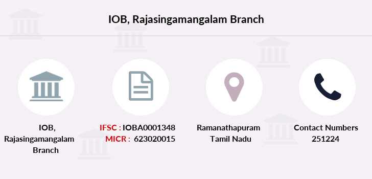 Indian-overseas-bank Rajasingamangalam branch