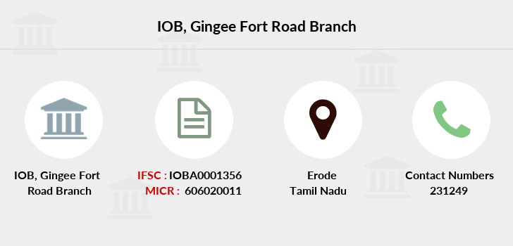 Indian-overseas-bank Gingee-fort-road branch