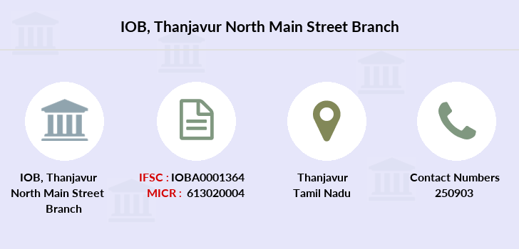 Indian-overseas-bank Thanjavur-north-main-street branch