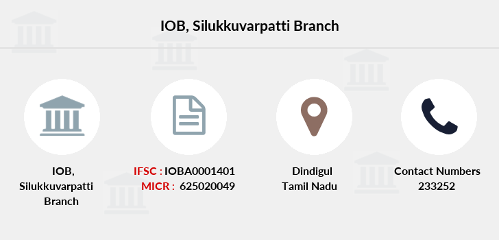 Indian-overseas-bank Silukkuvarpatti branch