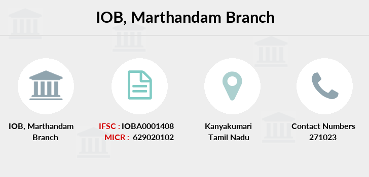 Indian-overseas-bank Marthandam branch