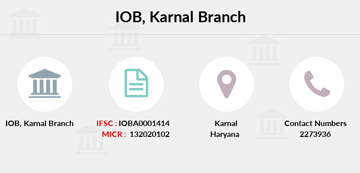 Indian-overseas-bank Karnal branch