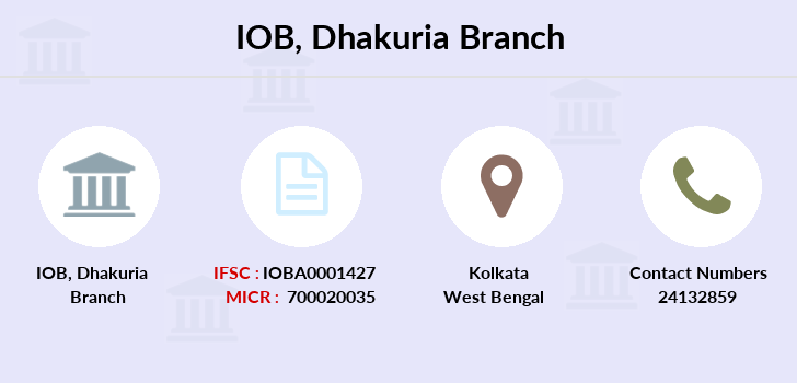 Indian-overseas-bank Dhakuria branch