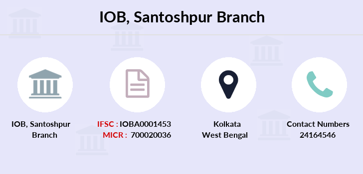 Indian-overseas-bank Santoshpur branch