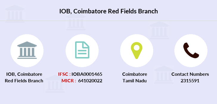 Indian-overseas-bank Coimbatore-red-fields branch