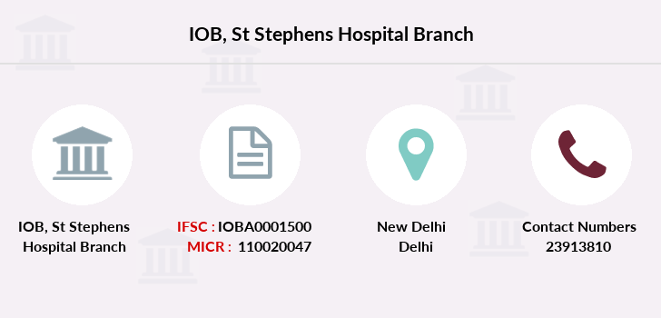 Indian-overseas-bank St-stephens-hospital branch