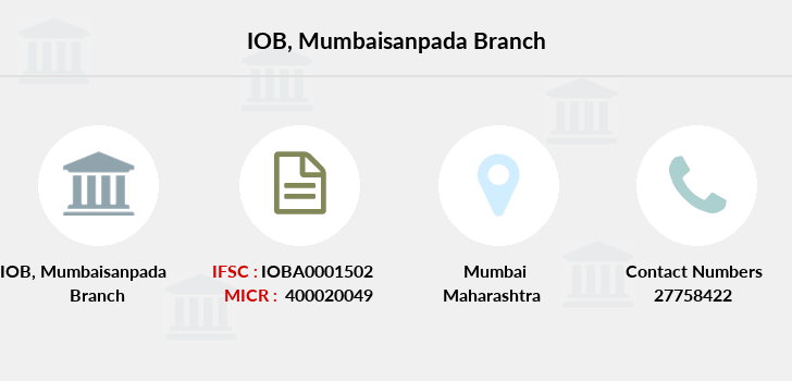 Indian-overseas-bank Mumbaisanpada branch