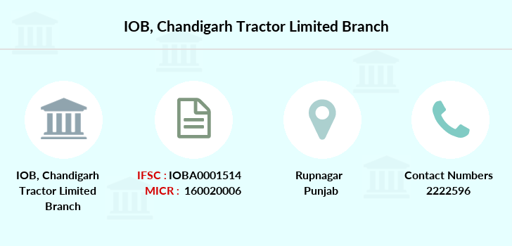 Indian-overseas-bank Chandigarh-tractor-limited branch