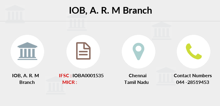 Indian-overseas-bank A-r-m branch