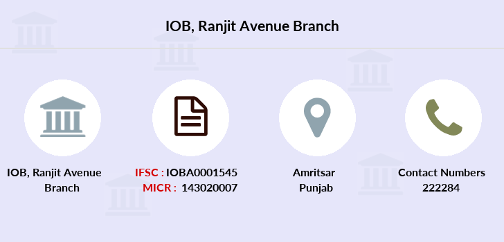 Indian-overseas-bank Ranjit-avenue branch