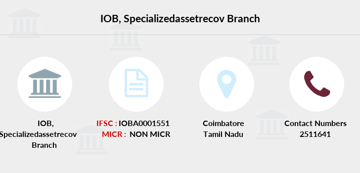 Indian-overseas-bank Specializedassetrecov branch