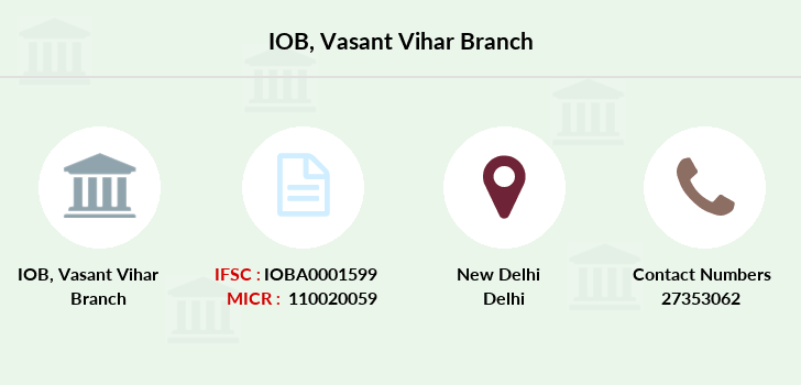 Indian-overseas-bank Vasant-vihar branch