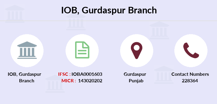 Indian-overseas-bank Gurdaspur branch