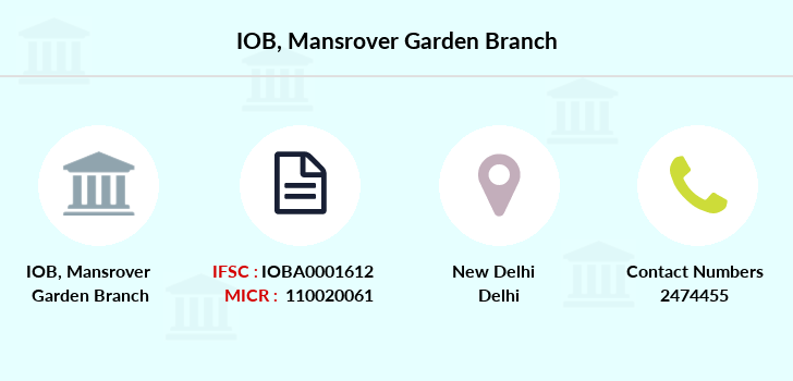 Indian-overseas-bank Mansrover-garden branch