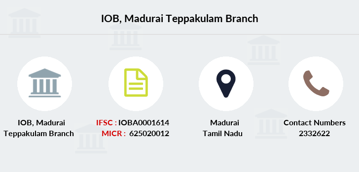 Indian-overseas-bank Madurai-teppakulam branch