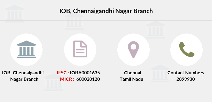 Indian-overseas-bank Chennaigandhi-nagar branch