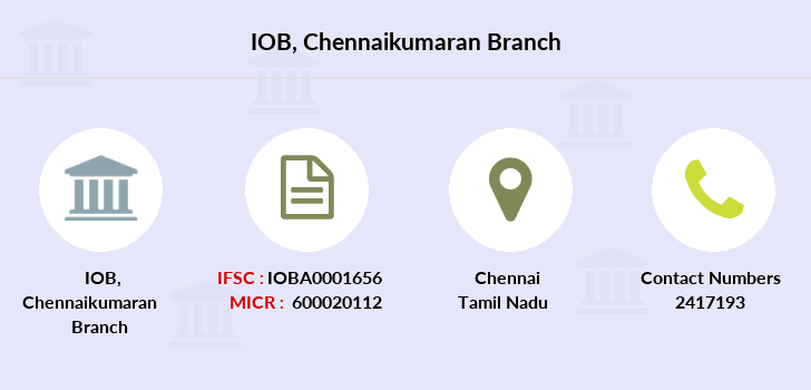 Indian-overseas-bank Chennaikumaran branch