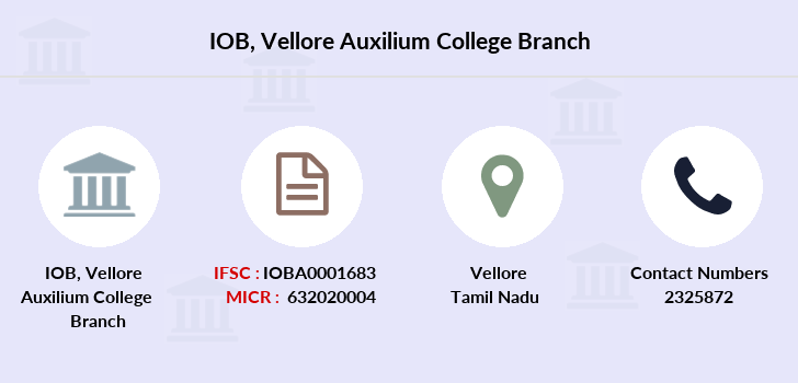 Indian-overseas-bank Vellore-auxilium-college branch